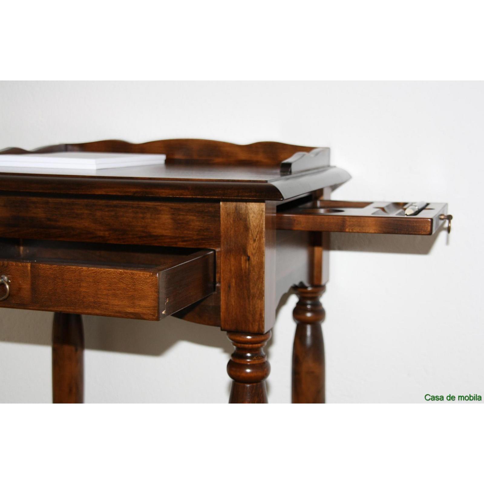telefontisch telefonkonsole konsolentisch kolonial braun nussbaum holz massiv. Black Bedroom Furniture Sets. Home Design Ideas
