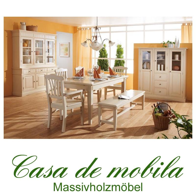 esszimmermöbel landhaus weiß holz fichte massiv lara von gradel