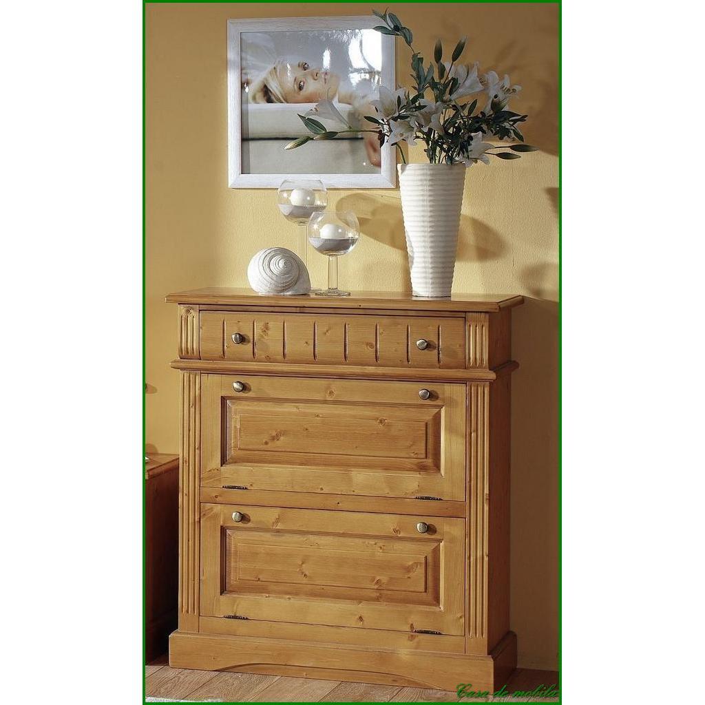 flurkommode schuhkommode holz fichte massiv honig antik lackiert. Black Bedroom Furniture Sets. Home Design Ideas