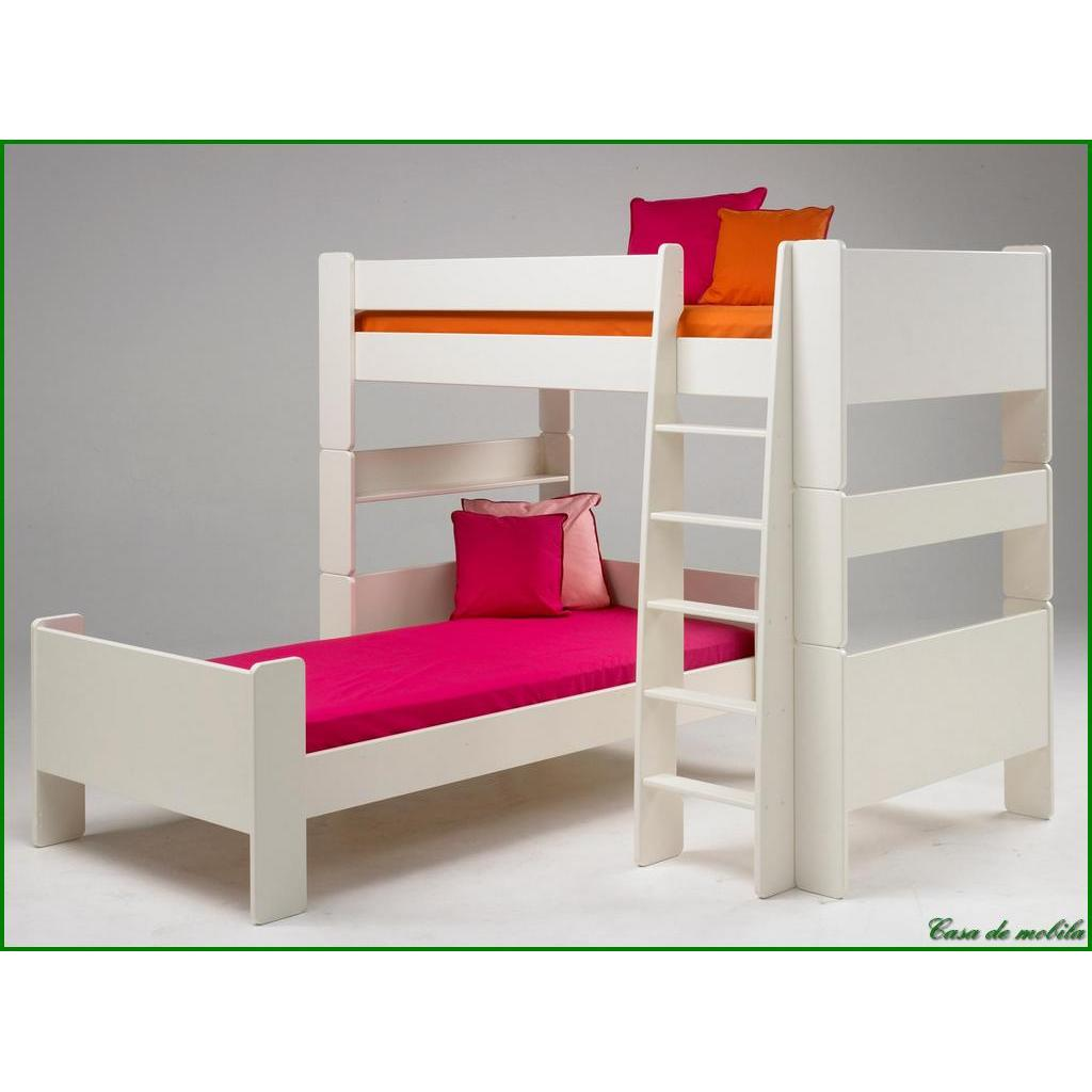 hochbett gro 90x200 for kids mdf weiss lackiert. Black Bedroom Furniture Sets. Home Design Ideas
