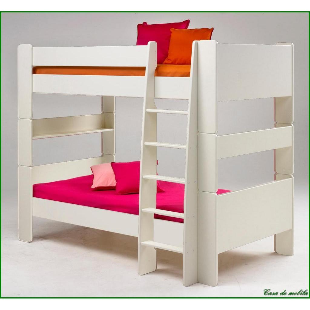 etagenbett 90x200 for kids mdf weiss lackiert. Black Bedroom Furniture Sets. Home Design Ideas