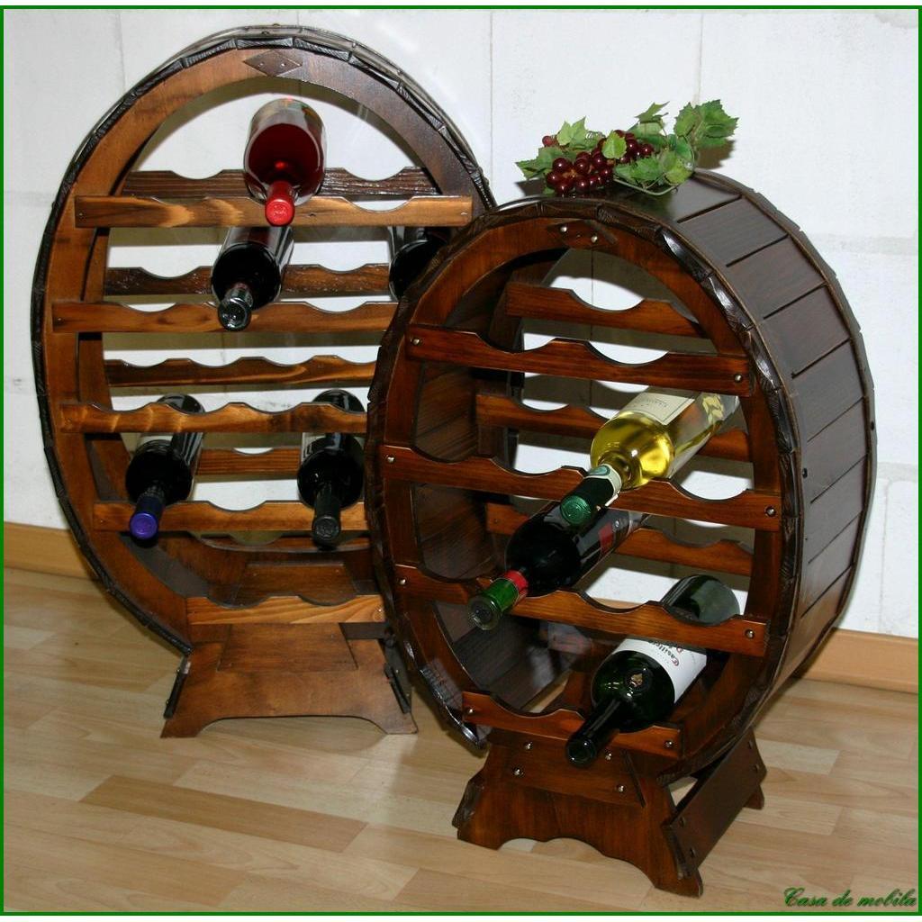 Wohnzimmertisch Kolonialstil Weinfass 12 Flaschen Decor Weinregal Weinflaschenhalter Fichte