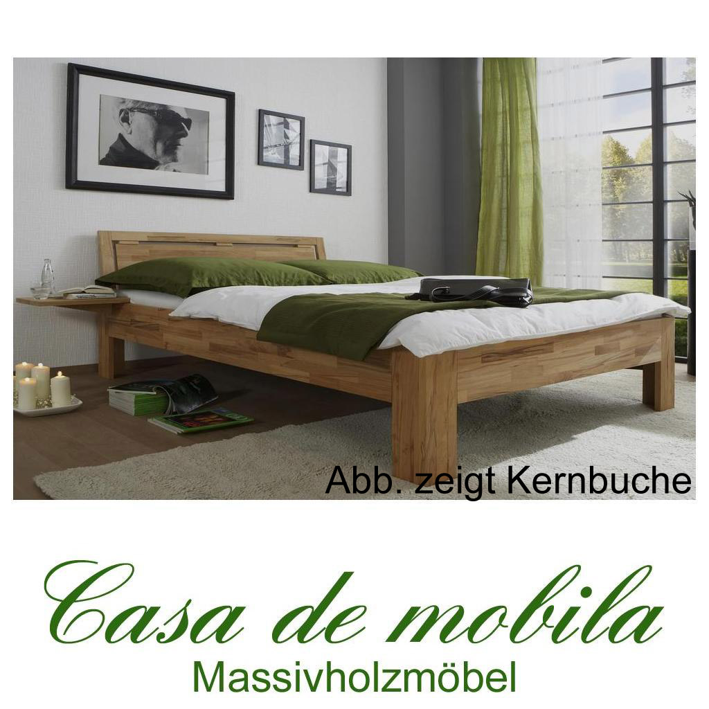 echtholz jugendbett buche massiv ge lt 140x200 caro mit nachtkonsole. Black Bedroom Furniture Sets. Home Design Ideas