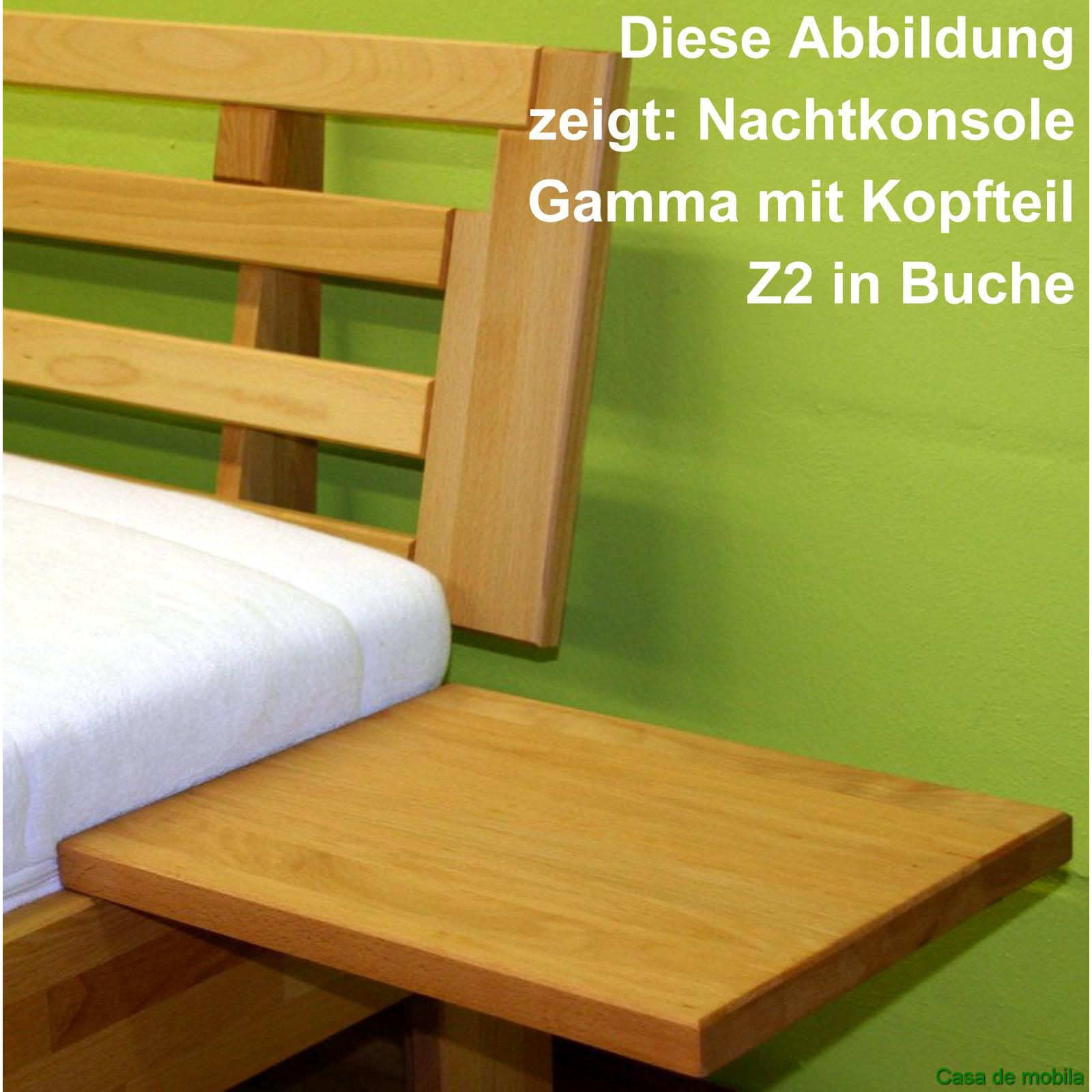 echtholz bett buche massiv ge lt 100x200 caro mit nachtkonsole. Black Bedroom Furniture Sets. Home Design Ideas