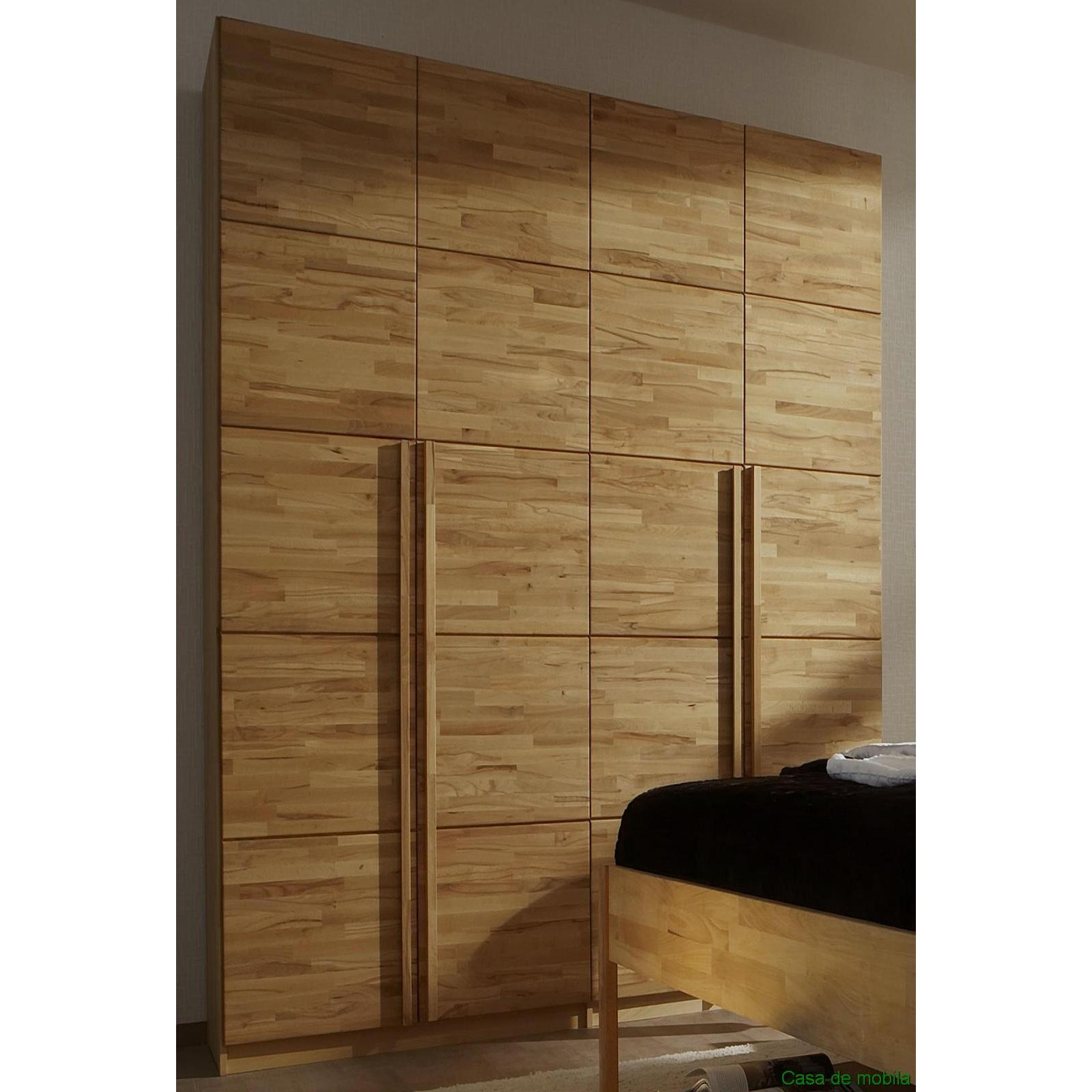 m h kleiderschrank kernbuche massiv natur ge lt front6 4 t rig. Black Bedroom Furniture Sets. Home Design Ideas