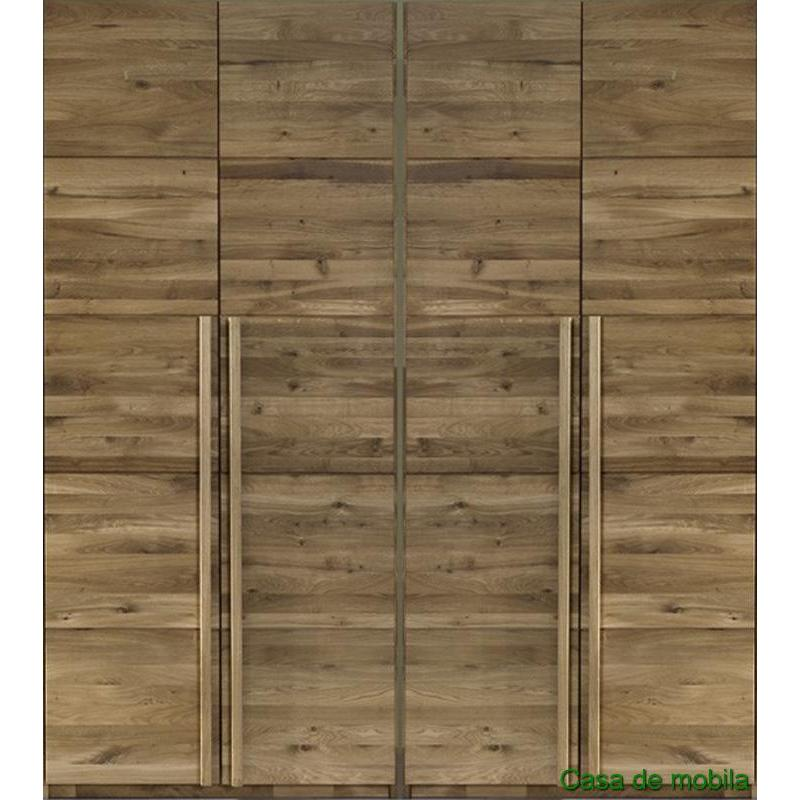 echtholz kleiderschrank eiche massiv natur ge lt front6 4 t rig wildeiche. Black Bedroom Furniture Sets. Home Design Ideas