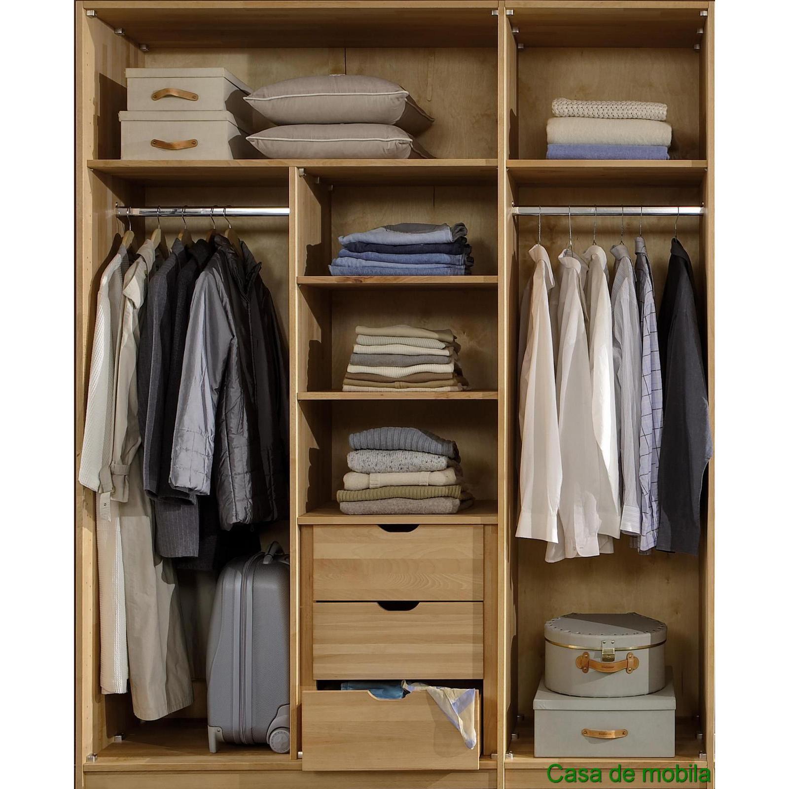 Schlafzimmer Kleiderschrank 6 Turig 2 #21: ZOOM · Massivholz Kleiderschrank ...