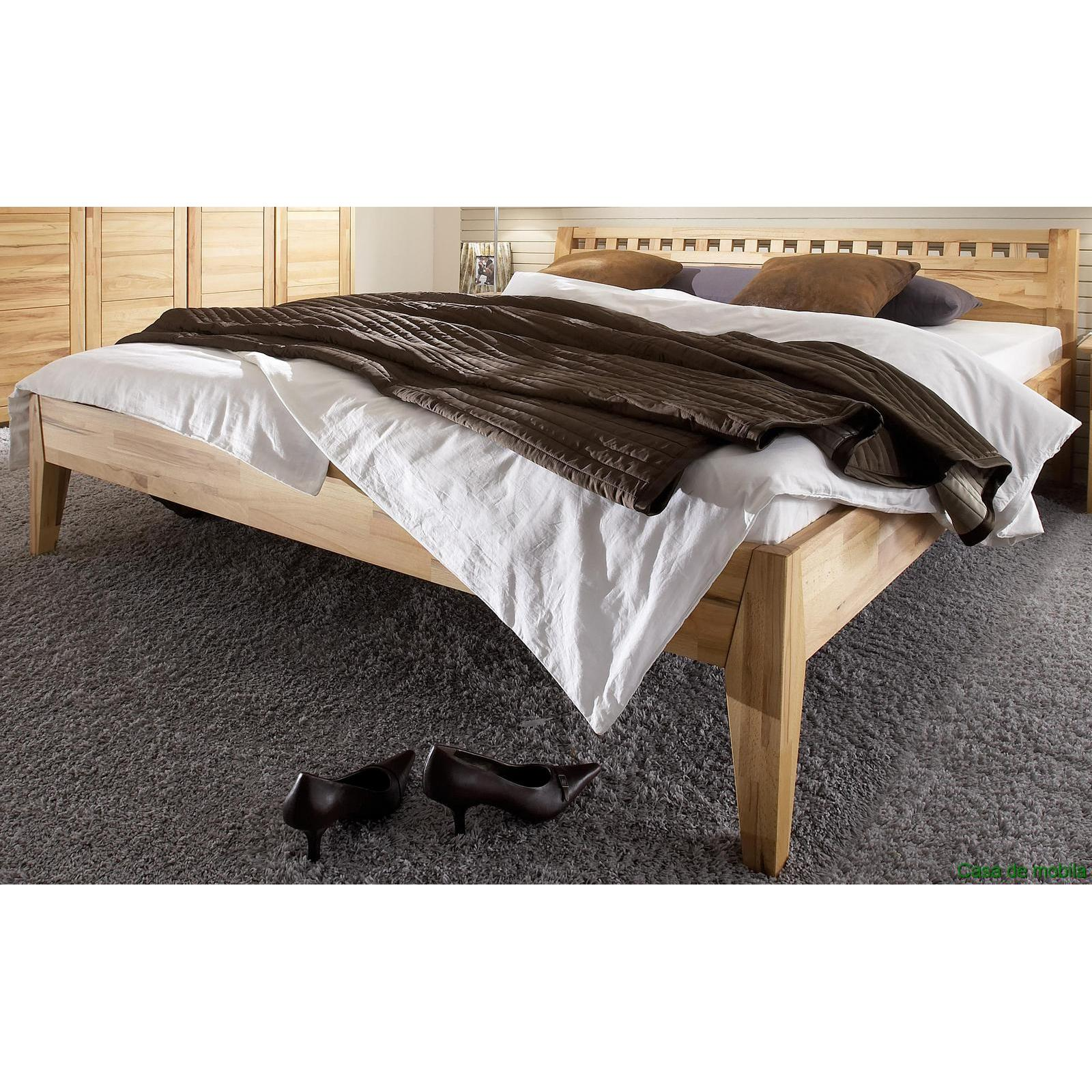 Schlafzimmer komplett Kernbuche massiv geölt DIANA II - Bett 160x200