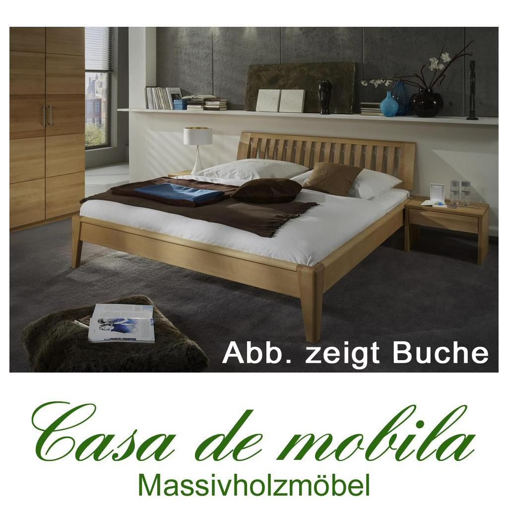 echtholz bett doppelbett 180x200 kernbuche massiv ge lt sara i. Black Bedroom Furniture Sets. Home Design Ideas