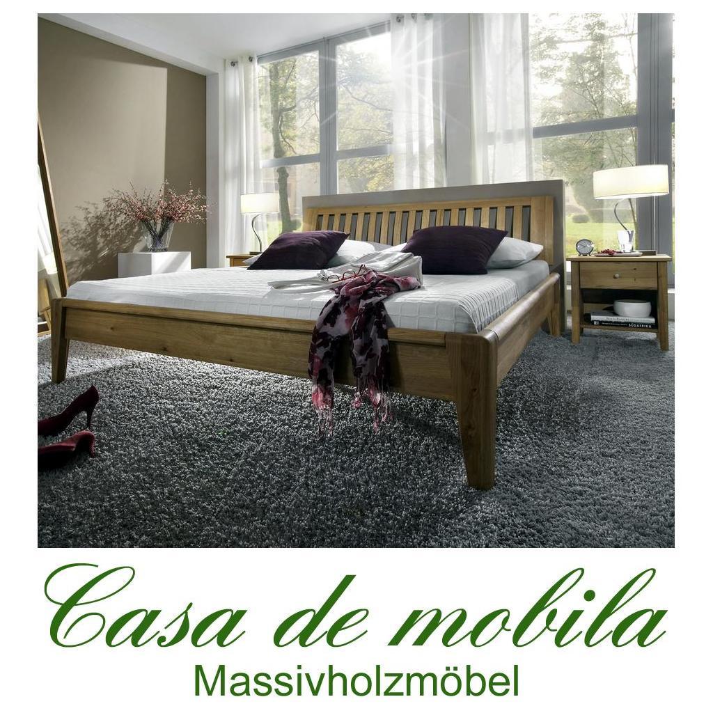 massivholz doppelbett eiche massiv sara i 200x200 wildeiche. Black Bedroom Furniture Sets. Home Design Ideas