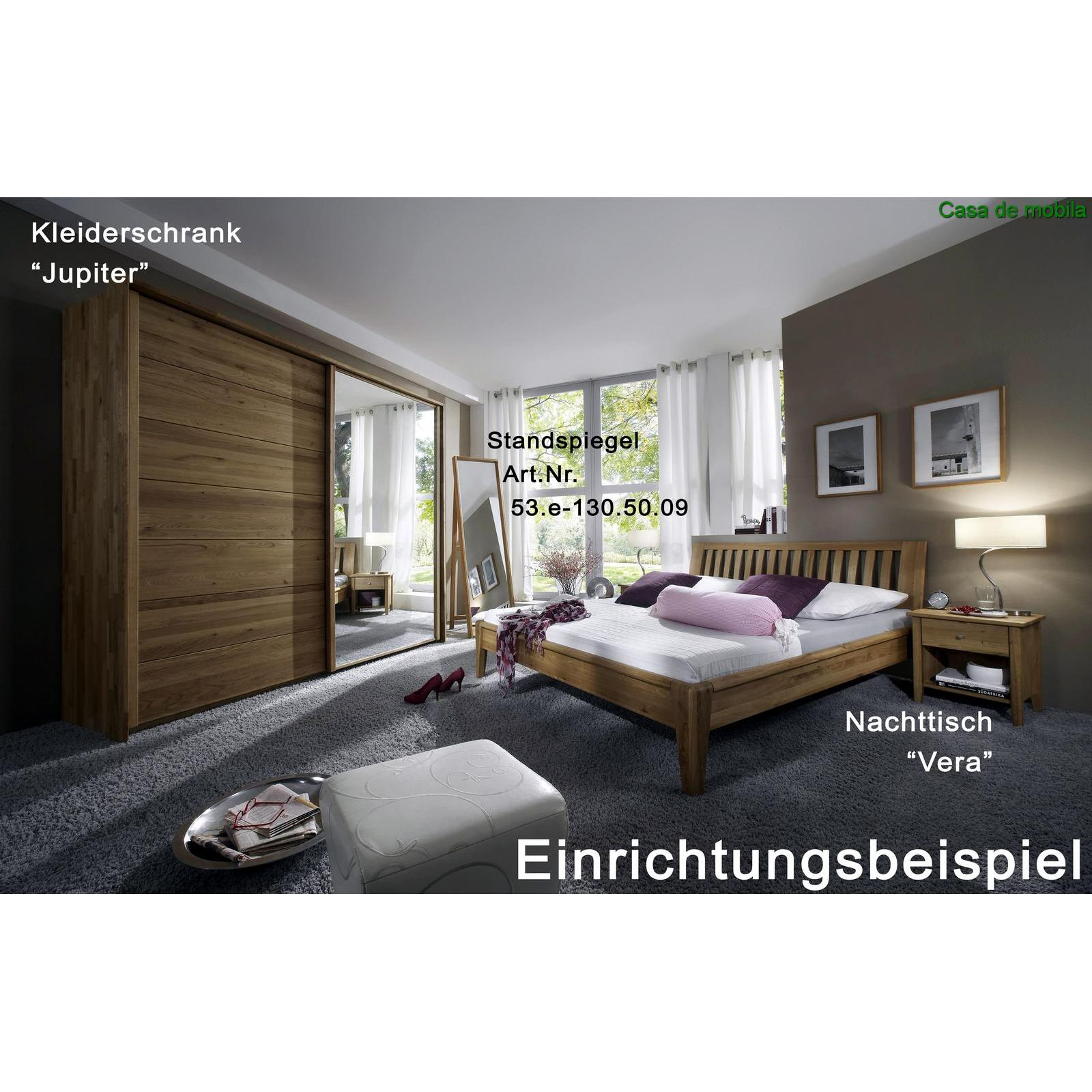 massivholz doppelbett eiche massiv sara i 140x200 wildeiche. Black Bedroom Furniture Sets. Home Design Ideas