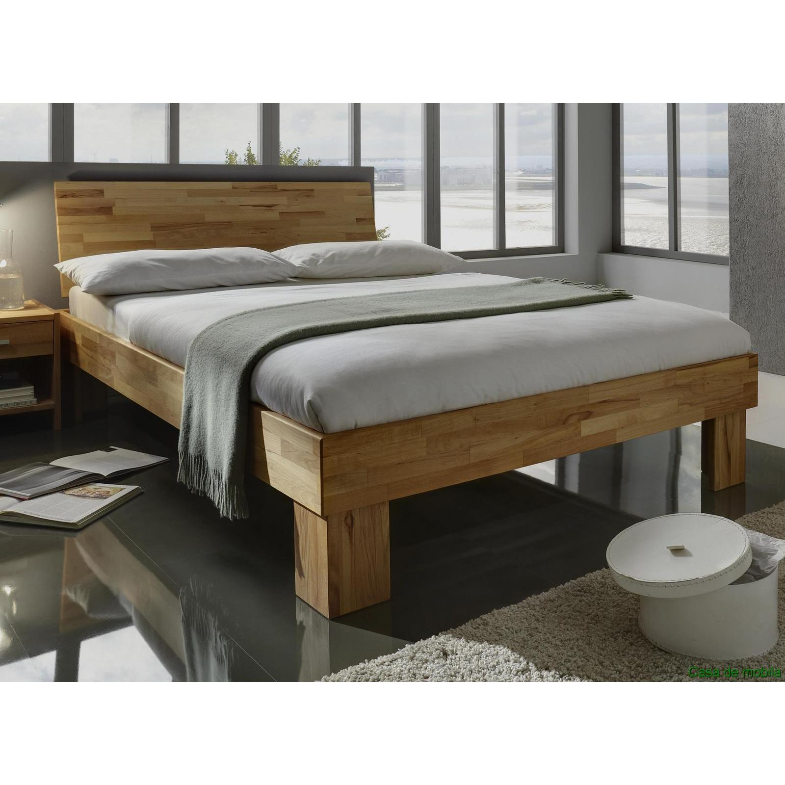 echtholz doppelbett kernbuche massiv ge lt gamma bett 140x200. Black Bedroom Furniture Sets. Home Design Ideas