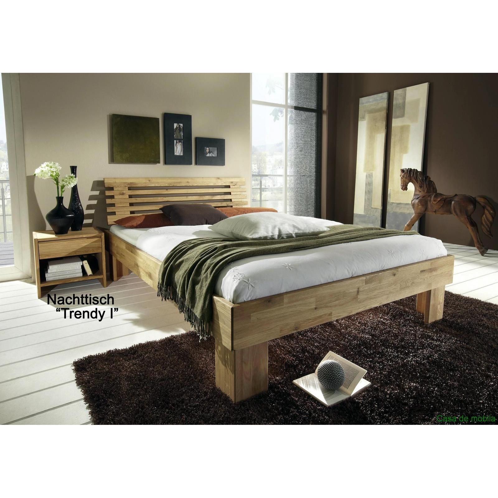 vollholz bett eiche massiv holzbett gamma 140x200 wildeiche ge lt. Black Bedroom Furniture Sets. Home Design Ideas