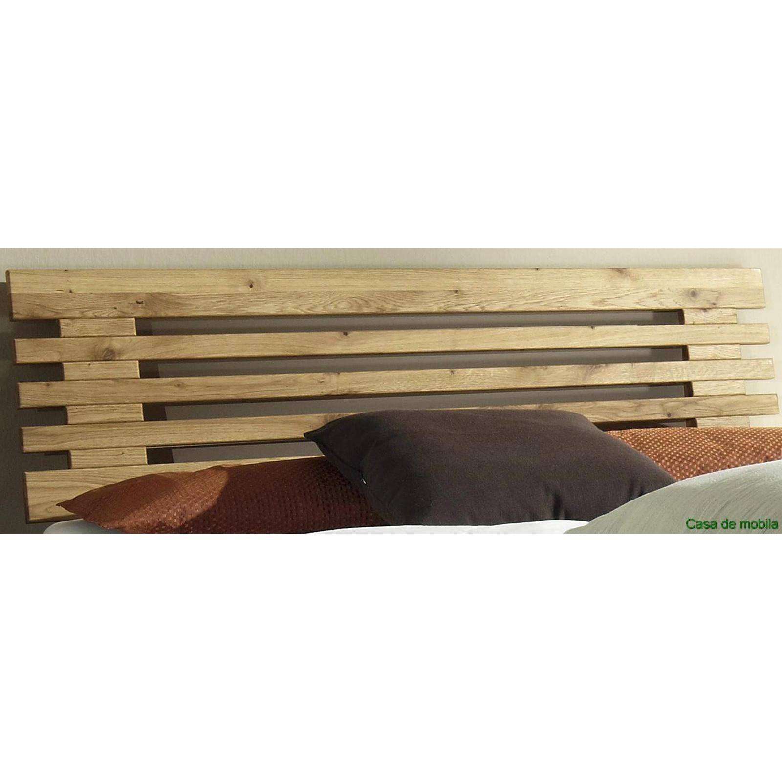 Echtholz Bett 100x200 Eiche Massiv Holzbett Gamma Wildeiche Geölt