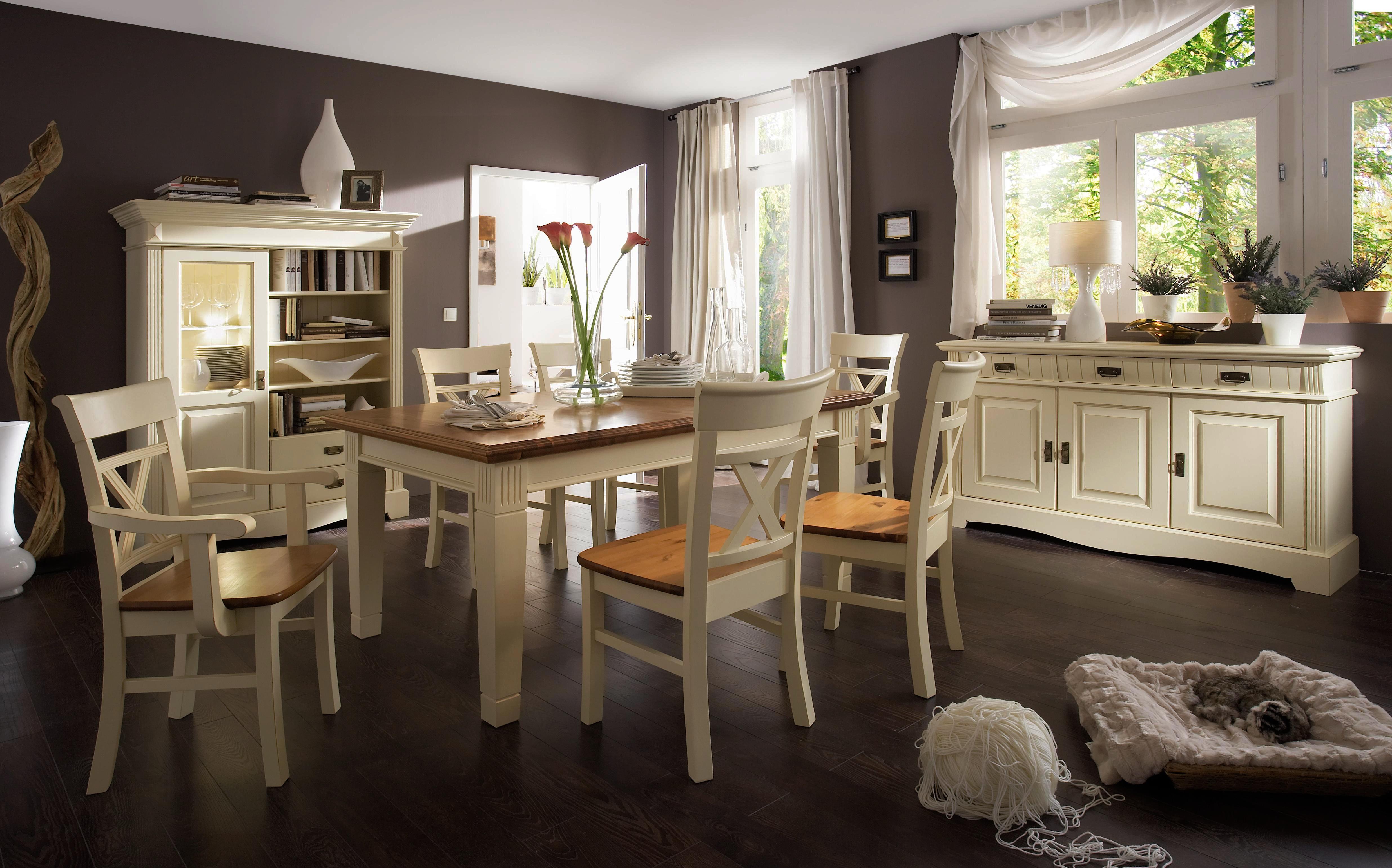 landhaus armlehnstuhl cremewei lackiert paris kiefer massiv. Black Bedroom Furniture Sets. Home Design Ideas