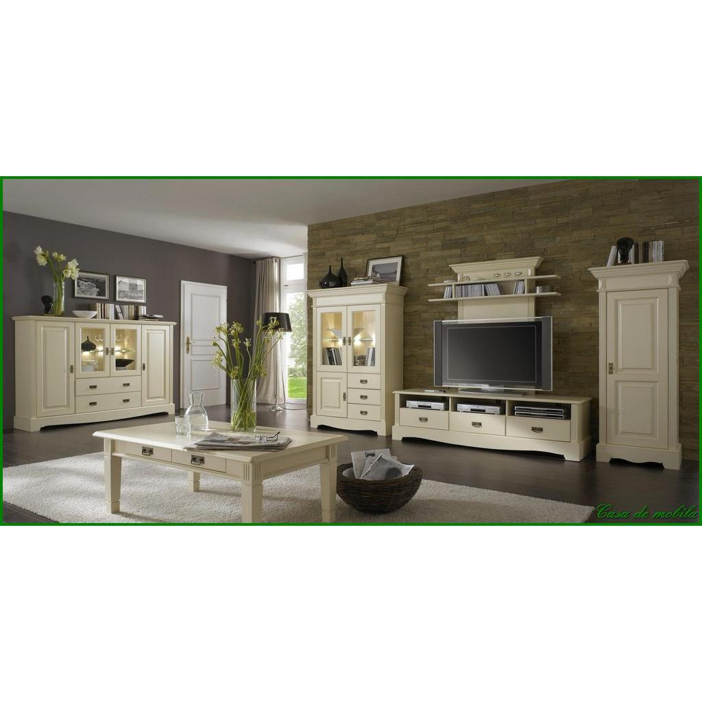 landhaus vitrinenschrank champagner lackiert paris kiefer massiv. Black Bedroom Furniture Sets. Home Design Ideas
