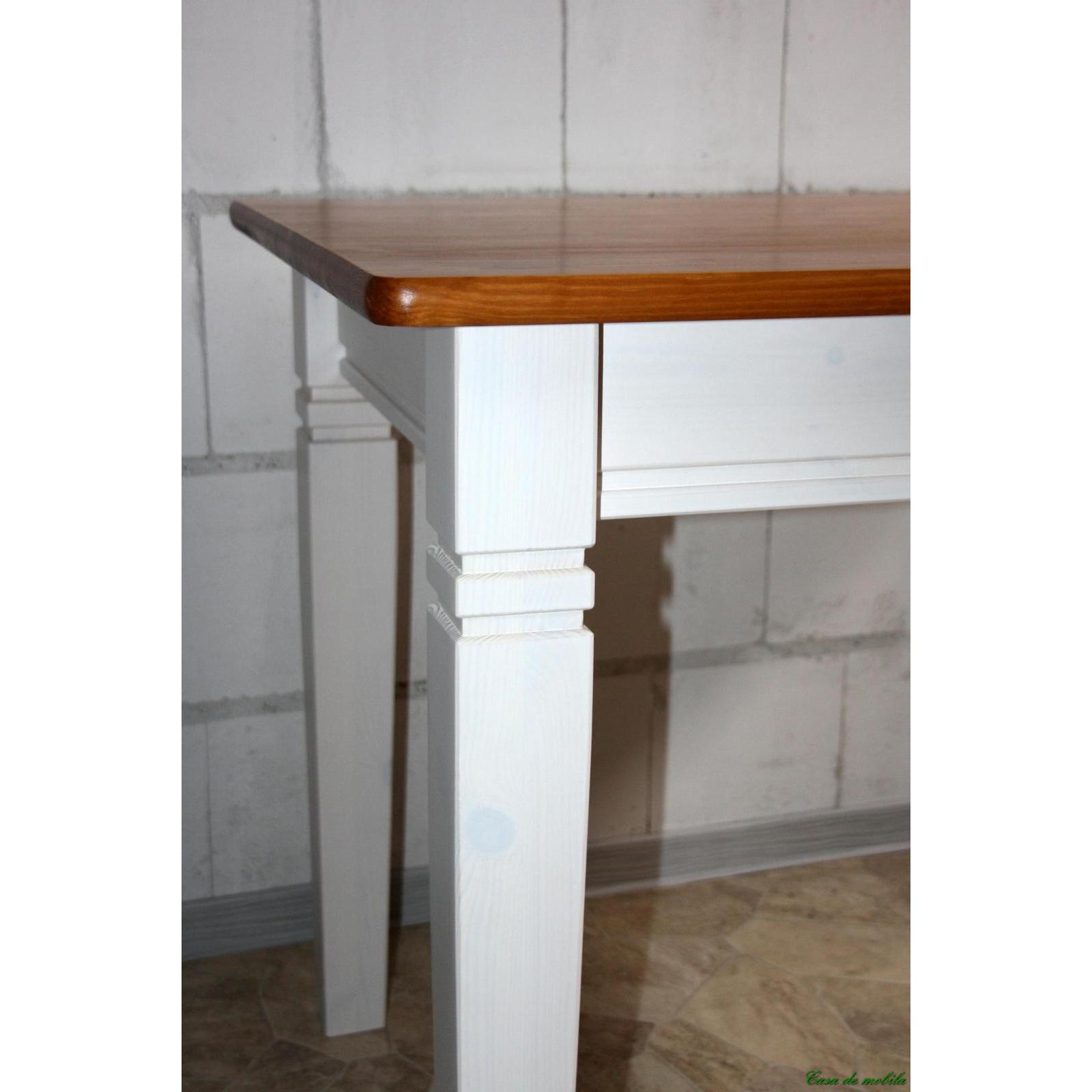 Esstisch Holz Weis Lackiert ~ Esstisch Tisch weiß bernsteinfarben 120×78 Fjord  Holz Kiefer massiv