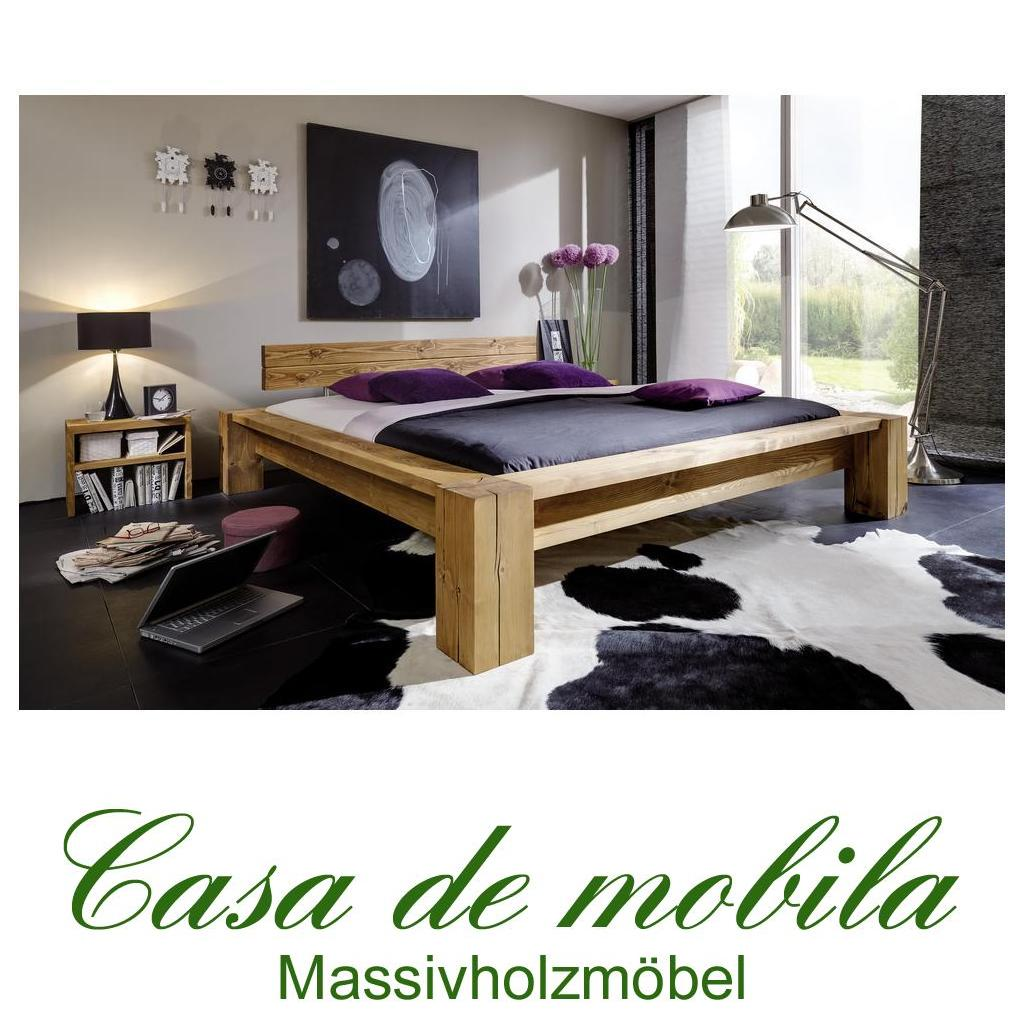 echtholz balkenbetten antik fichte massiv holz taiga doppelbett 140x200. Black Bedroom Furniture Sets. Home Design Ideas