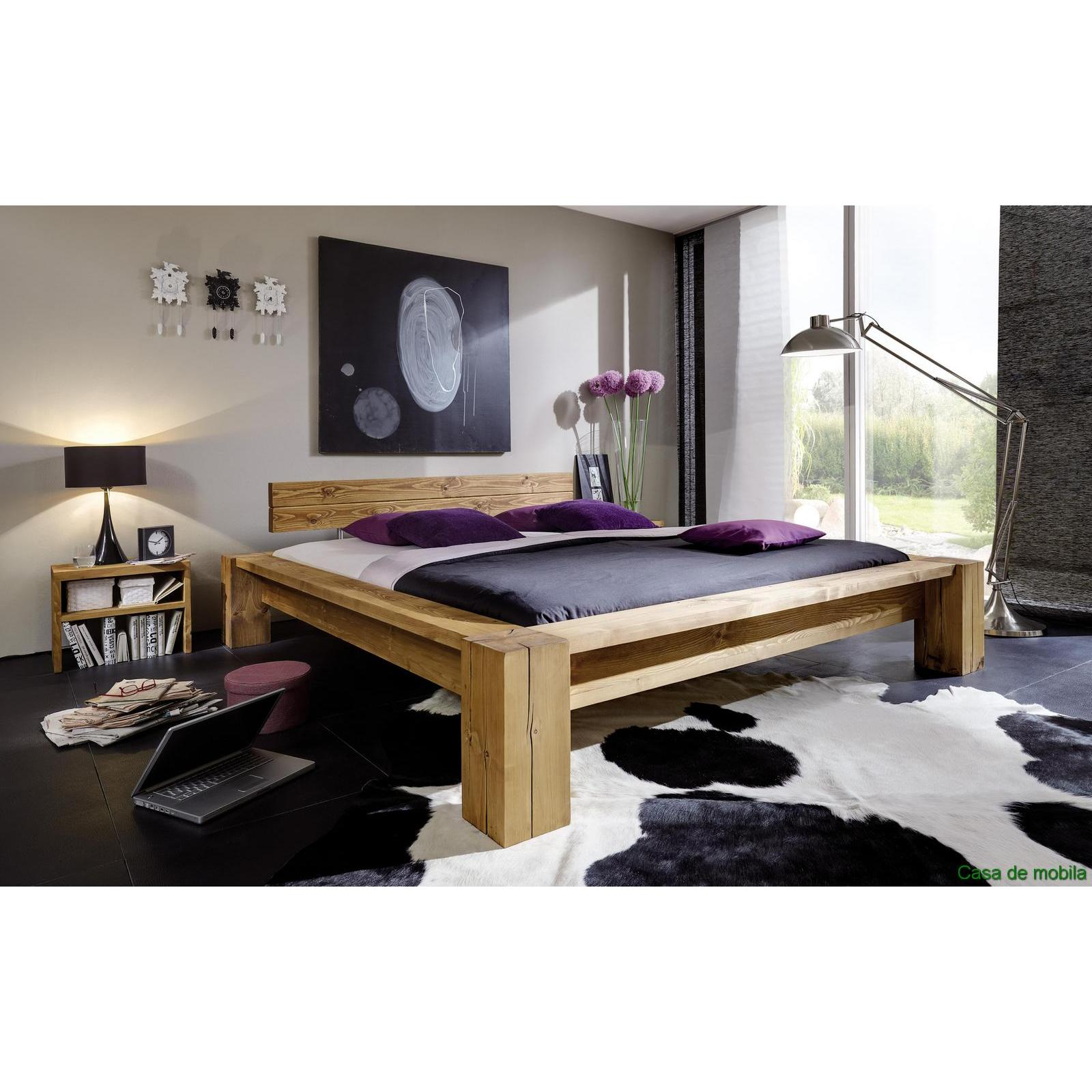 echtholz balkenbett fichte massiv holz antik gewachst doppelbett 180x200 taiga. Black Bedroom Furniture Sets. Home Design Ideas