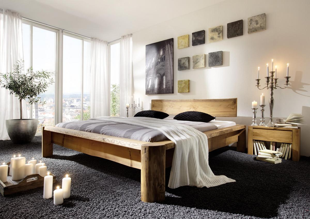 echtholz balkenbett doppelbett antik 200x200 kiefer fichte massiv gebeizt gewachst tundra. Black Bedroom Furniture Sets. Home Design Ideas