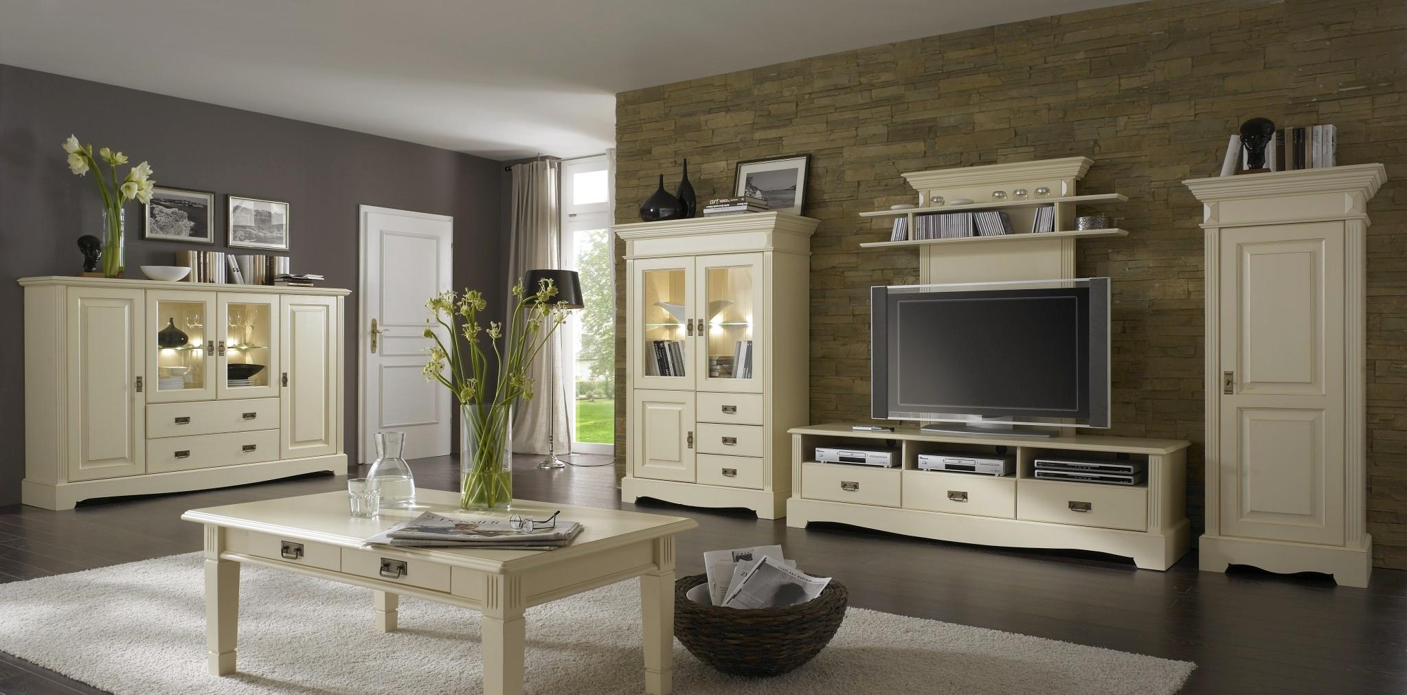landhaus tv lowboard champagner lackiert paris kiefer massiv. Black Bedroom Furniture Sets. Home Design Ideas