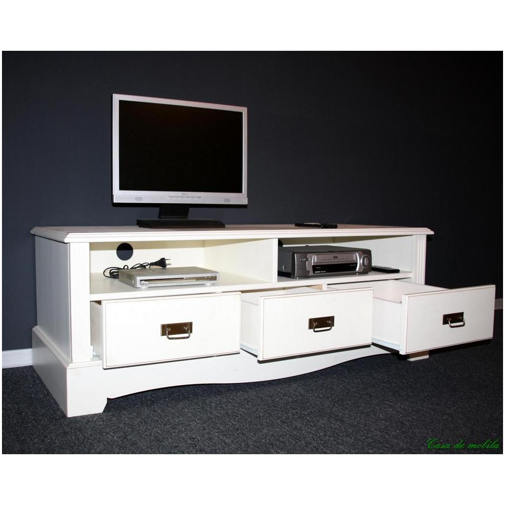 landhaus tv lowboard champagner lackiert kiefer massiv paris. Black Bedroom Furniture Sets. Home Design Ideas