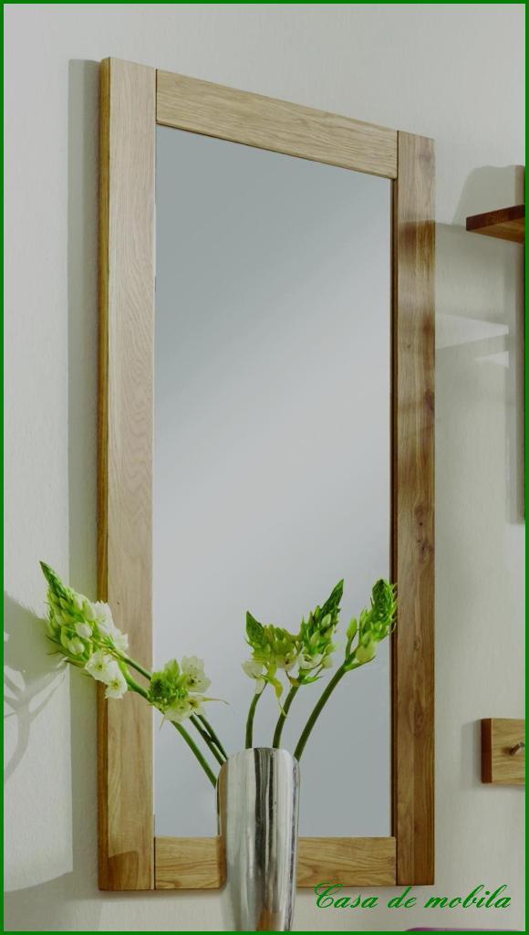flurspiegel wandspiegel mit holzrahmen 50x100 wildeiche. Black Bedroom Furniture Sets. Home Design Ideas