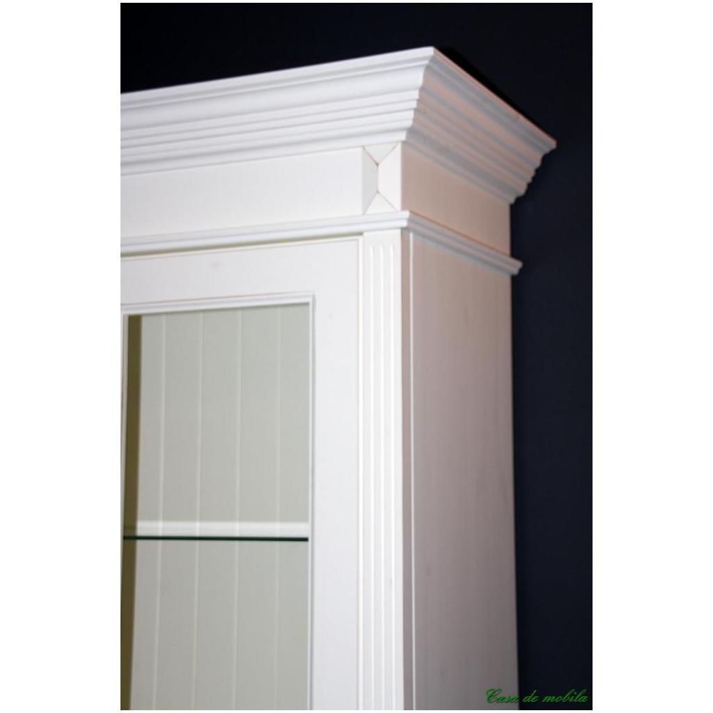 Wohnzimmerschrank Weiß Landhaus ~ komplett Kiefer massiv weiss Anbauwand Landhausstil Wohnzimmerschrank
