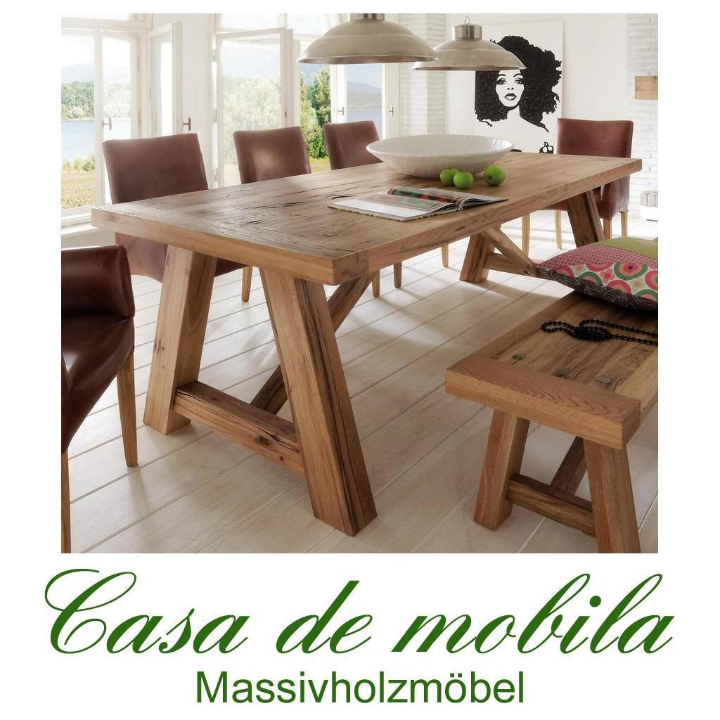 Esszimmertisch Tisch Balkeneiche Massiv Geölt 240x110 Firenze