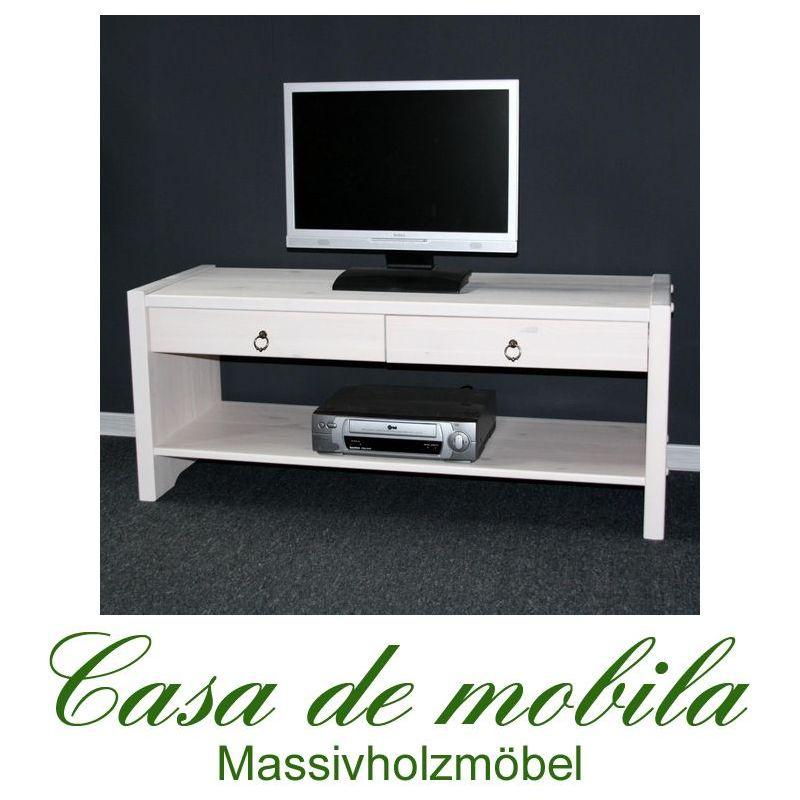 vollholz tv lowboard bank flurbank kiefer massiv weiss. Black Bedroom Furniture Sets. Home Design Ideas