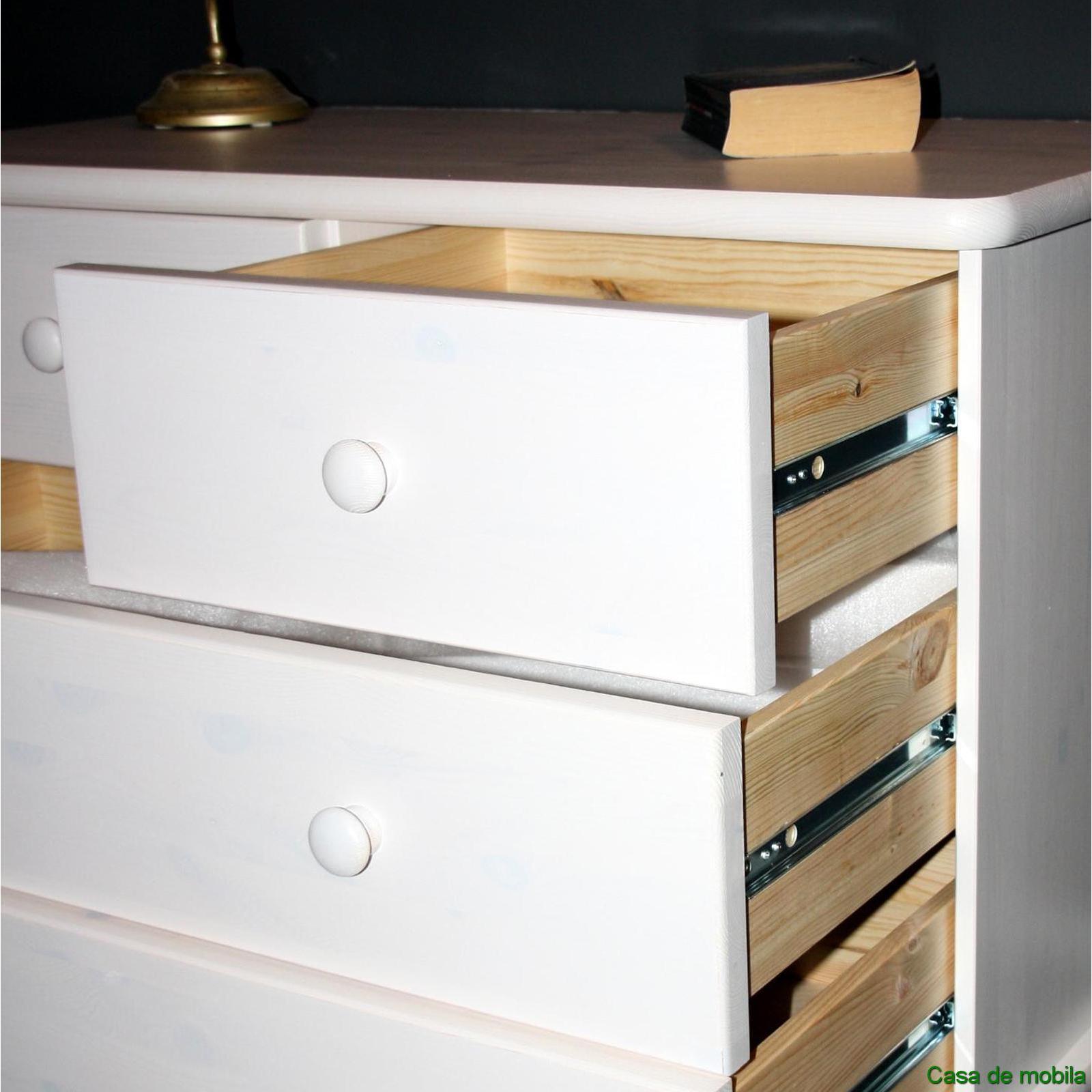 massivholz anrichte kiefer massiv wei lasiert goslar sideboard mit sockelblende kommode. Black Bedroom Furniture Sets. Home Design Ideas