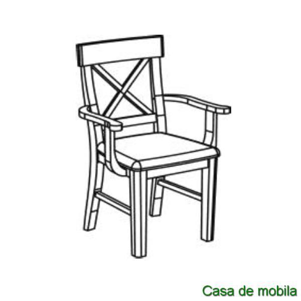 armlehnstuhl kiefer gelaugt ge lt alena holzstuhl mit armlehnen. Black Bedroom Furniture Sets. Home Design Ideas