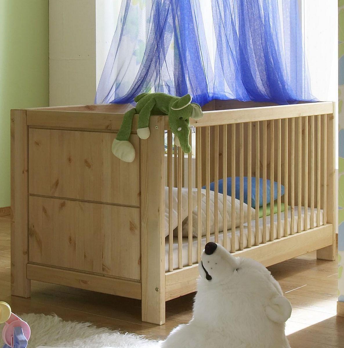 Babybett Babybetten Kiefer Massiv Holz Gelaugt Gelt