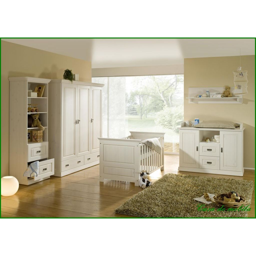 babyzimmer komplett weiss lasiert holz kiefer massiv. Black Bedroom Furniture Sets. Home Design Ideas