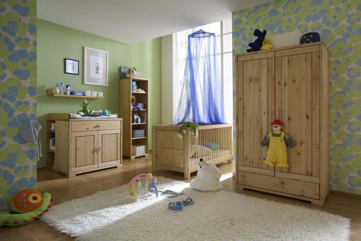 babybett babybetten kiefer massiv holz gelaugt ge lt. Black Bedroom Furniture Sets. Home Design Ideas