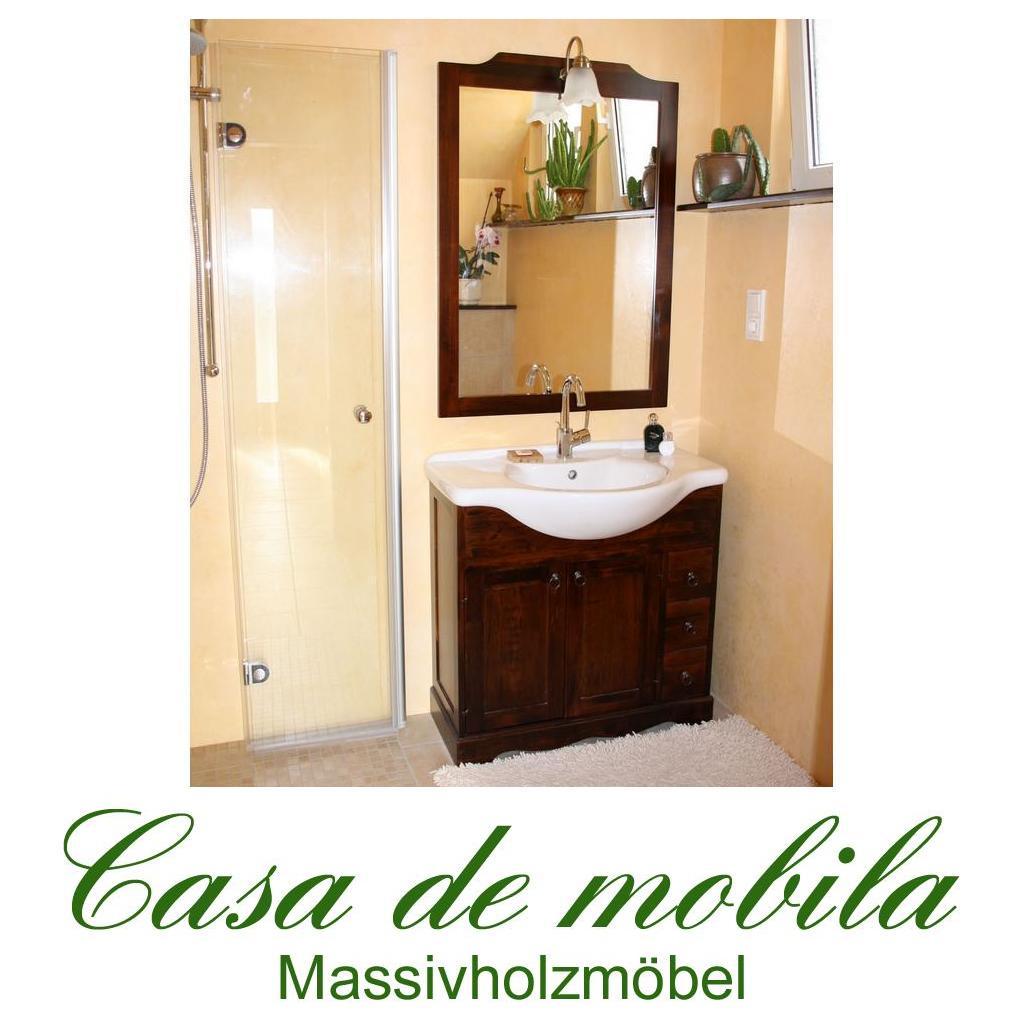 Italienische Badmöbel Badezimmermöbel braun nussbaum holz massiv bei ...
