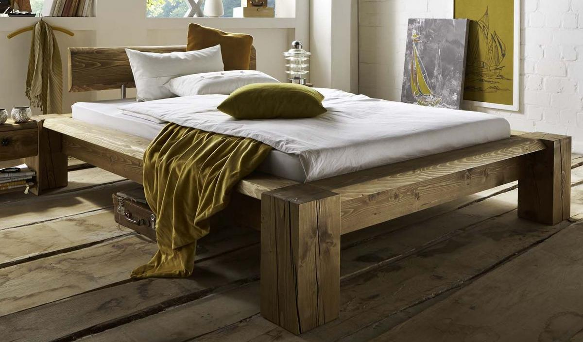 echtholz doppelbett antik 200x200 kiefer fichte massiv gebeizt gewachst tatra. Black Bedroom Furniture Sets. Home Design Ideas