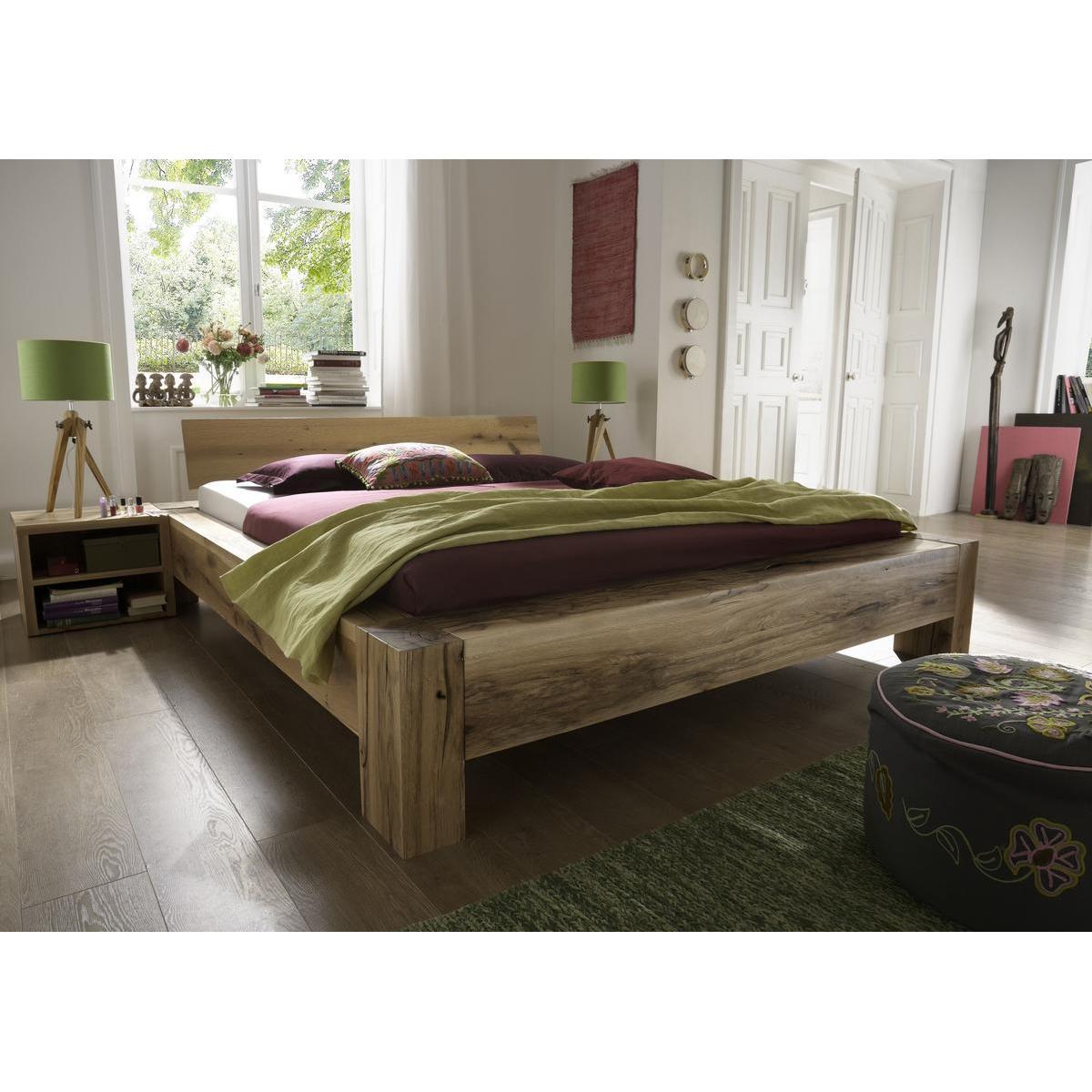 echtholz balkenbett 200x200 heavy sleep alba wildeiche massiv natur ge lt 2220 26 2110 3. Black Bedroom Furniture Sets. Home Design Ideas