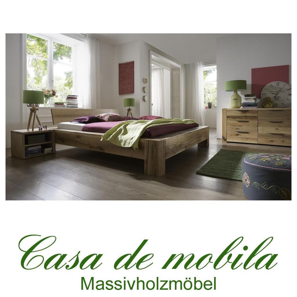echtholz balkenbett 180x200 heavy sleep alba wildeiche. Black Bedroom Furniture Sets. Home Design Ideas