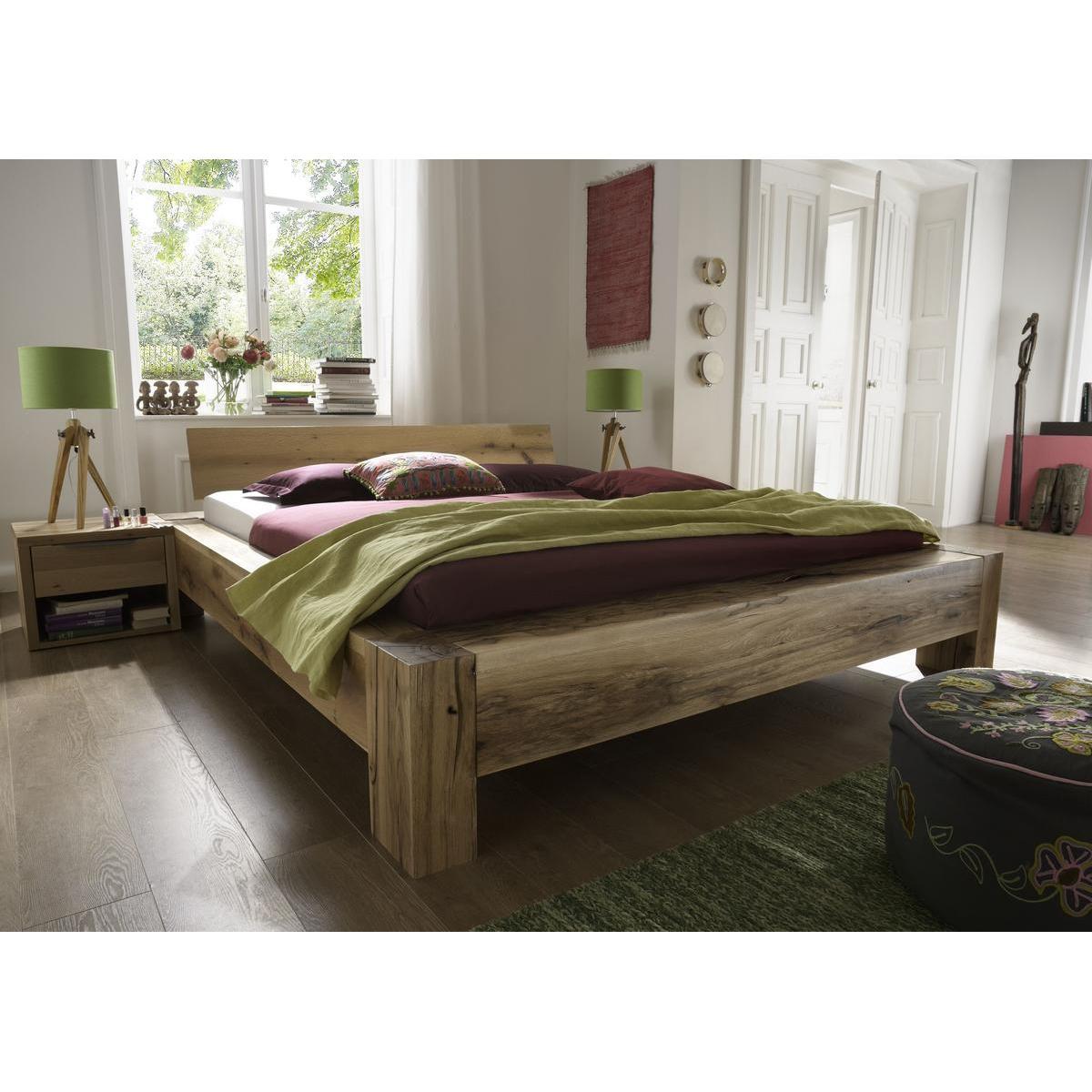 vollholz balkenbett 180x200 heavy sleep alba wildeiche. Black Bedroom Furniture Sets. Home Design Ideas