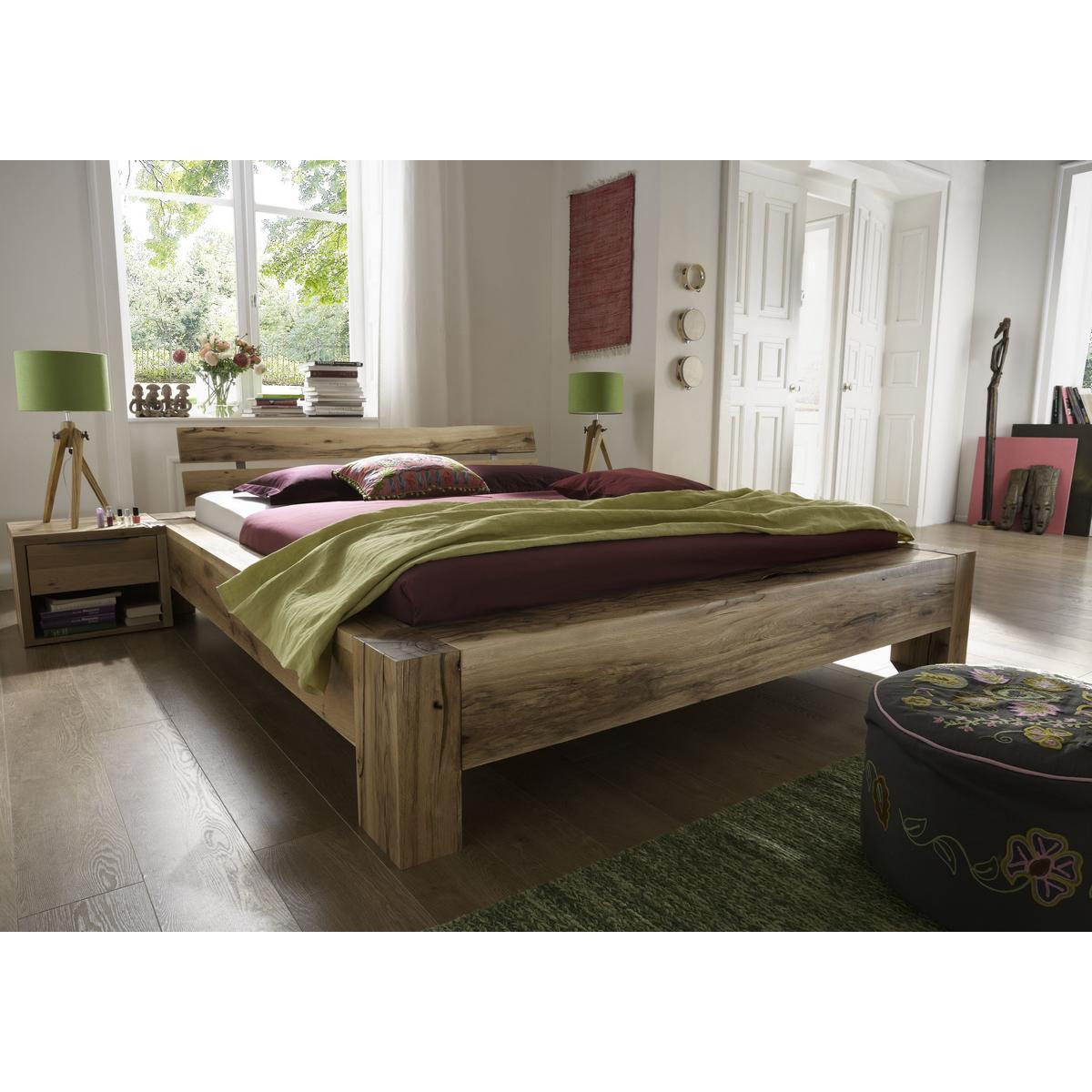 massivholz balkenbett 140x200 heavy sleep alba wildeiche massiv natur ge lt 2214 27 2120 3. Black Bedroom Furniture Sets. Home Design Ideas