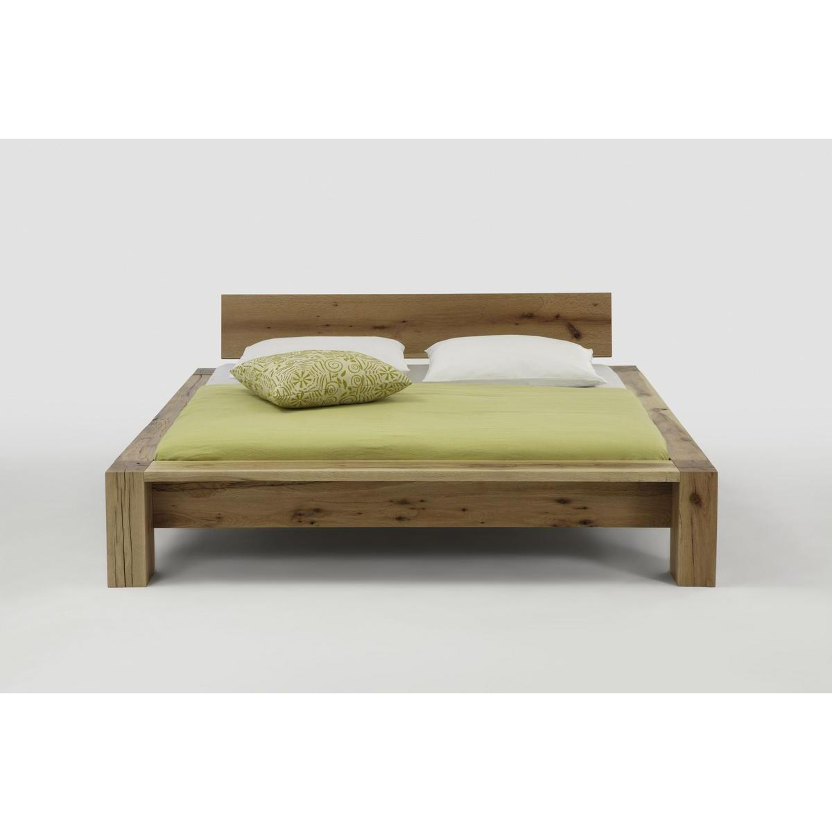 massivholz balkenbett 200x200 heavy sleep capri wildeiche. Black Bedroom Furniture Sets. Home Design Ideas