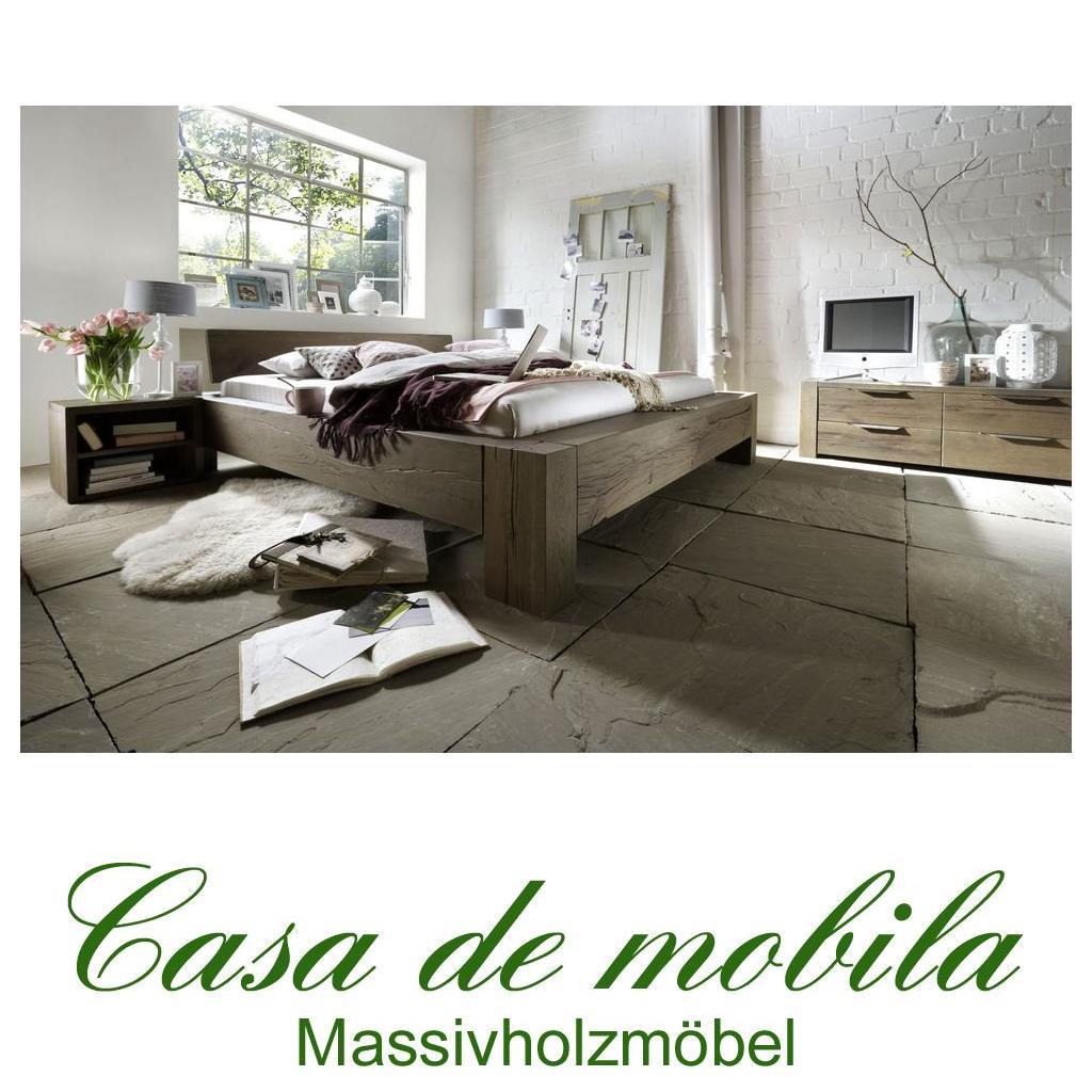 echtholz balkenbett 200x200 heavy sleep alba wildeiche massiv r ucher l finish 2220 26 2110 4. Black Bedroom Furniture Sets. Home Design Ideas