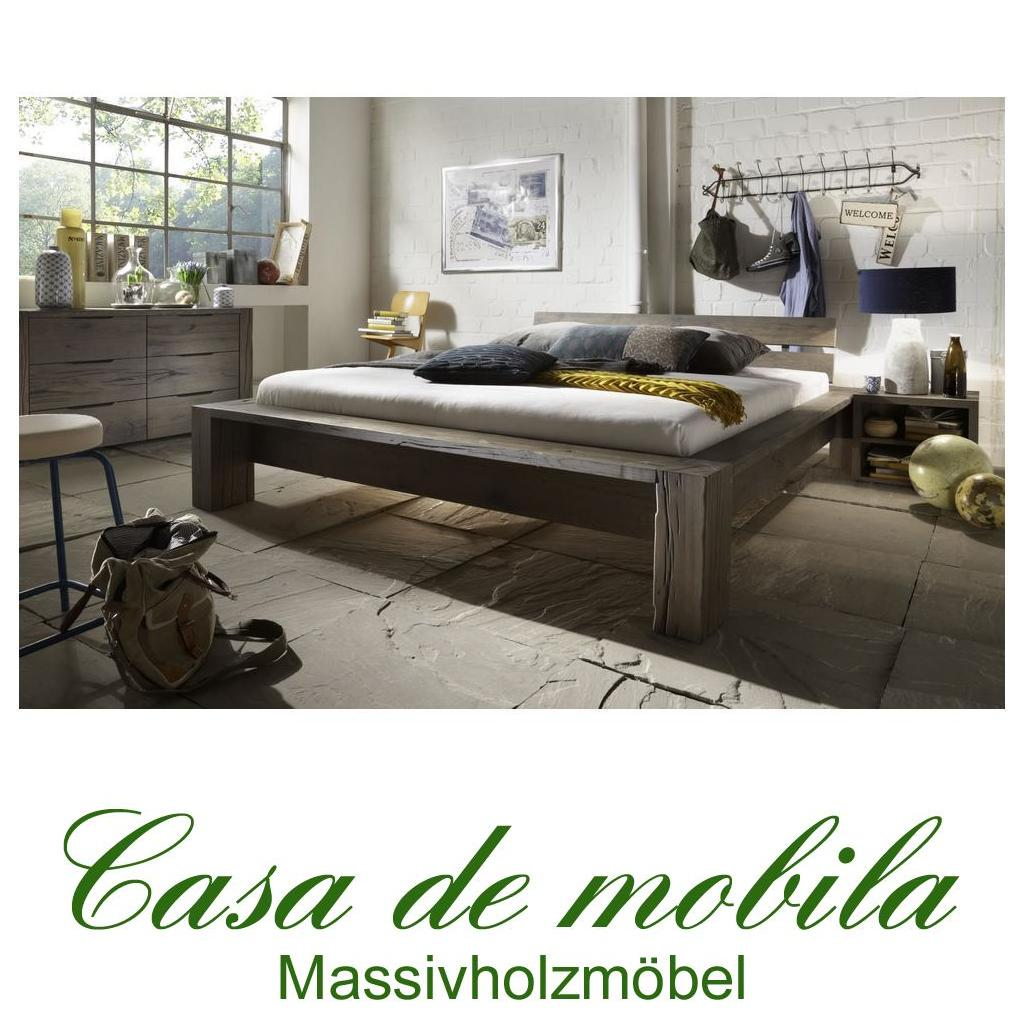 massivholz balkenbett 200x200 heavy sleep capri wildeiche. Black Bedroom Furniture Sets. Home Design Ideas