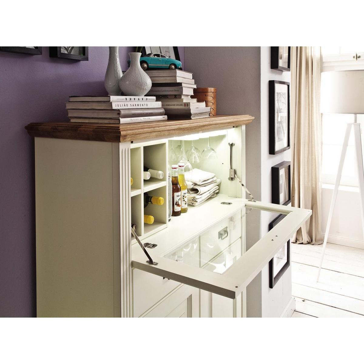 massivholz barschrank nordic home kiefer massiv wei. Black Bedroom Furniture Sets. Home Design Ideas