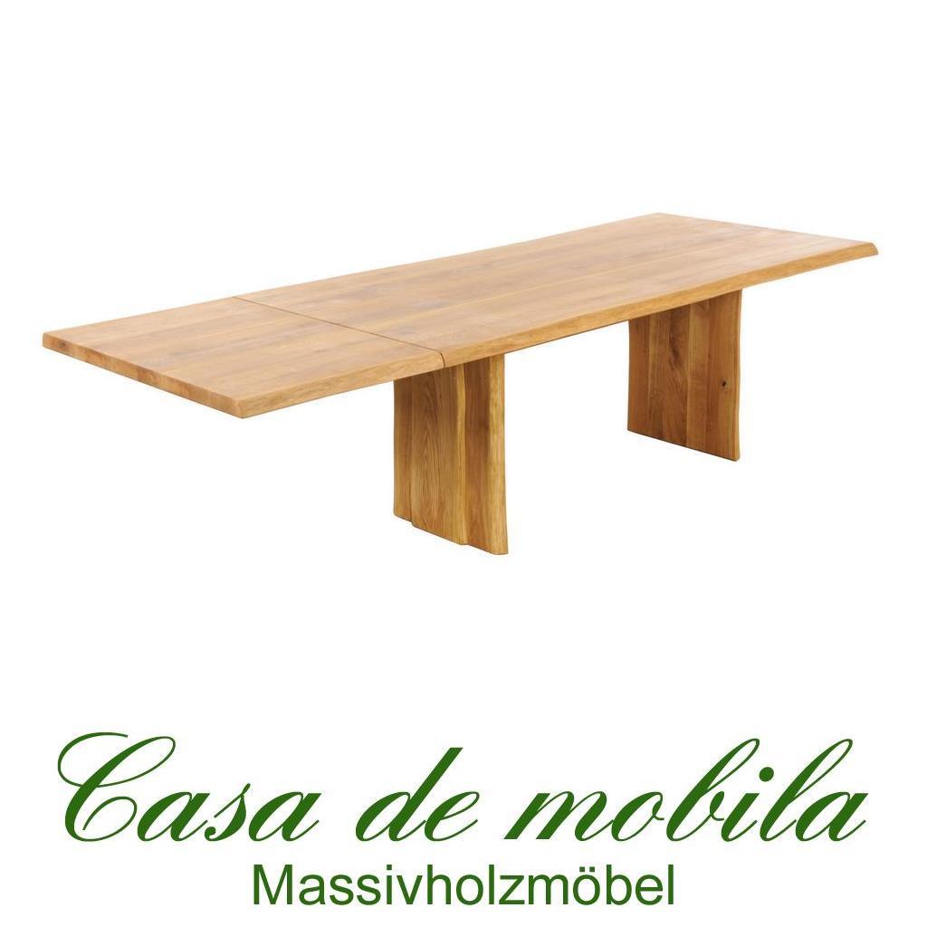 Echtholz wangentisch esstisch erweiterbar 200x100cm for Esstisch erweiterbar