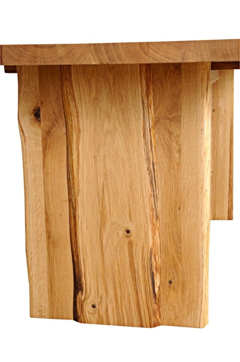 Esstisch Zingst ~ Echtholz Tisch Esstisch mit Wangenfuss 240x100cm Wildeiche massiv geölt ZINGST