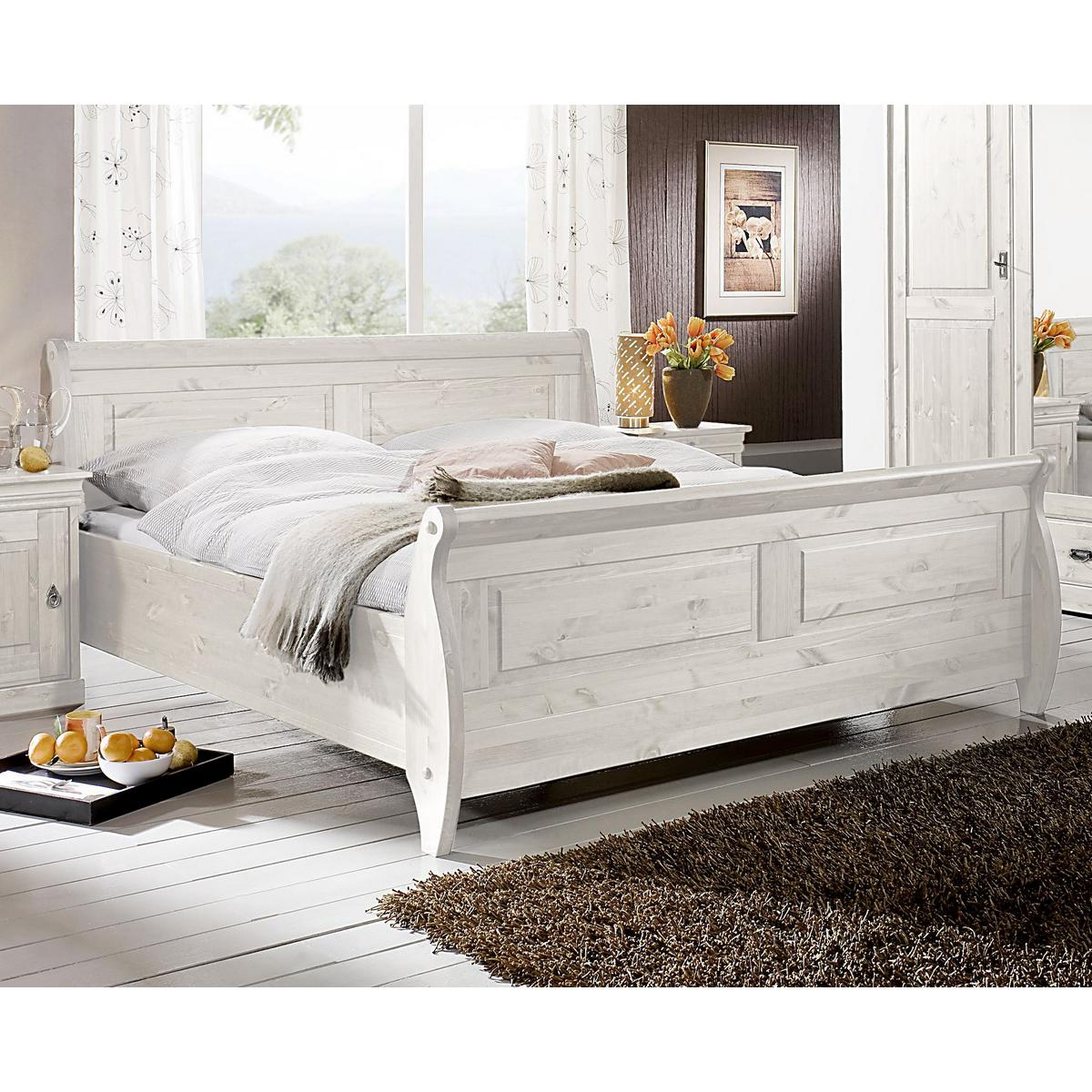 landhaus schlafzimmer roland ii kiefer massiv wei lasiert. Black Bedroom Furniture Sets. Home Design Ideas
