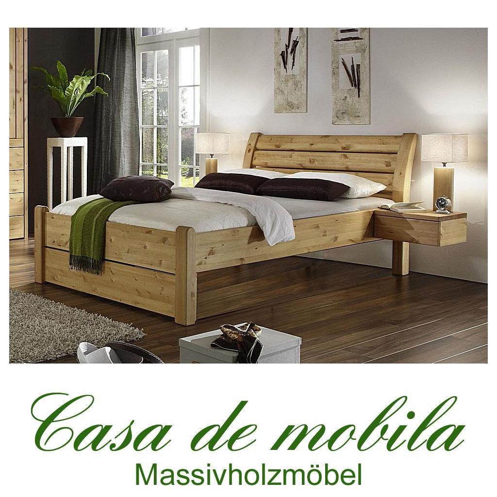 holzbett doppelbett kiefer massiv gelaugt ge lt rauna. Black Bedroom Furniture Sets. Home Design Ideas