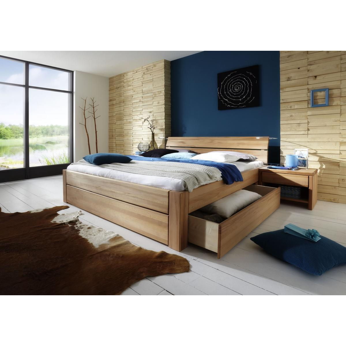 massivholz schubkastenbett 90x200 easy sleep kernbuche massiv ge lt 9209 93 52 87. Black Bedroom Furniture Sets. Home Design Ideas